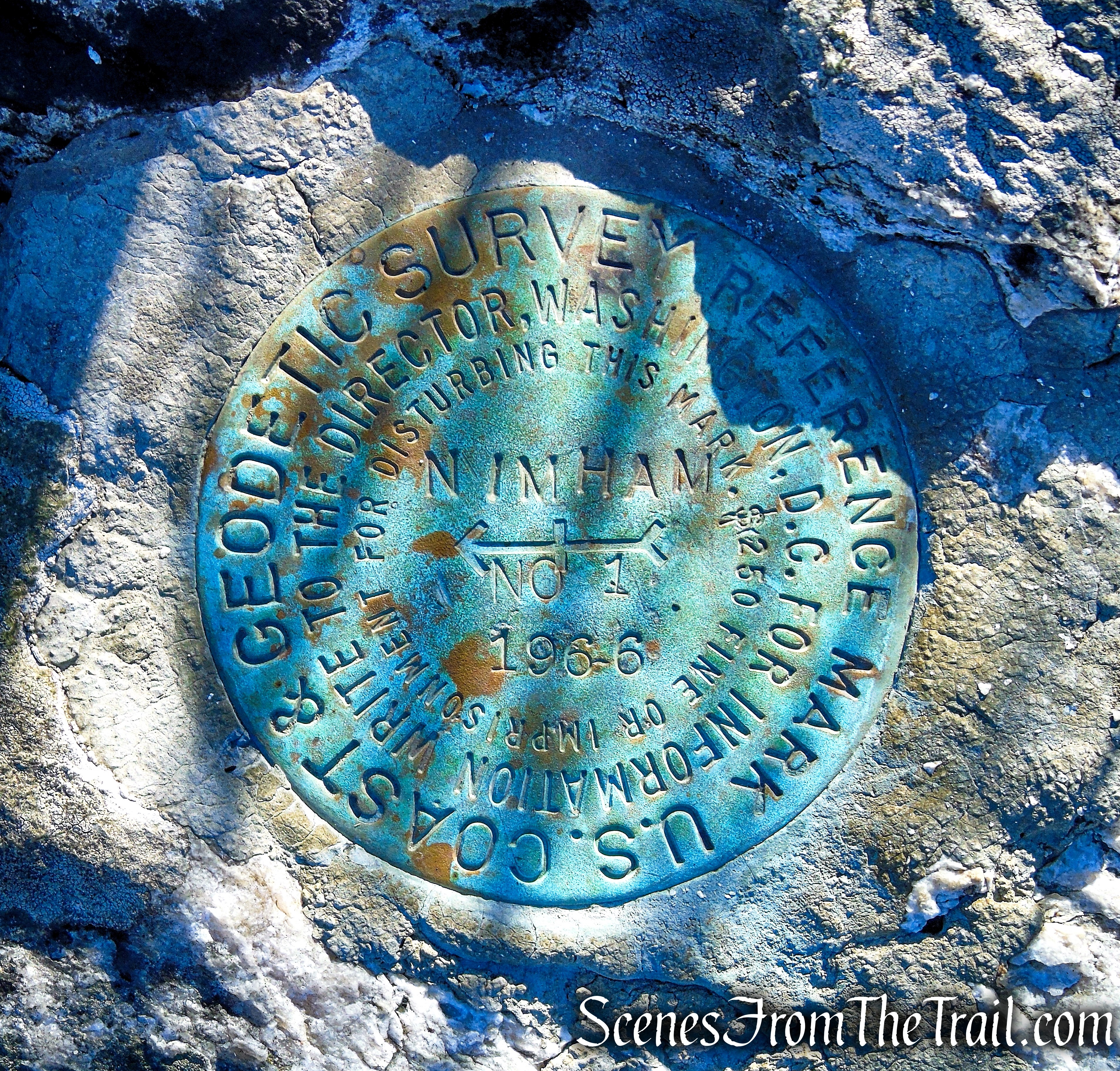 Nimham Mountain survey marker