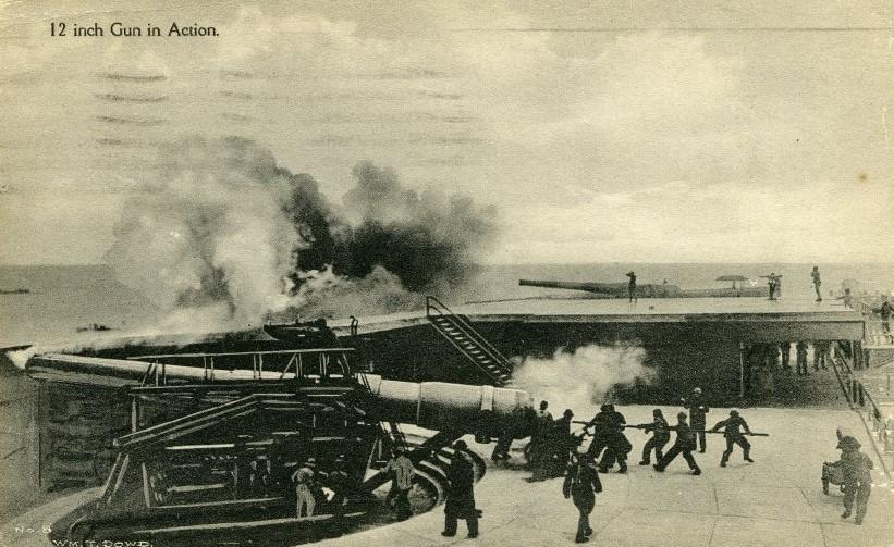 12 inch Gun In Action - circa 1917