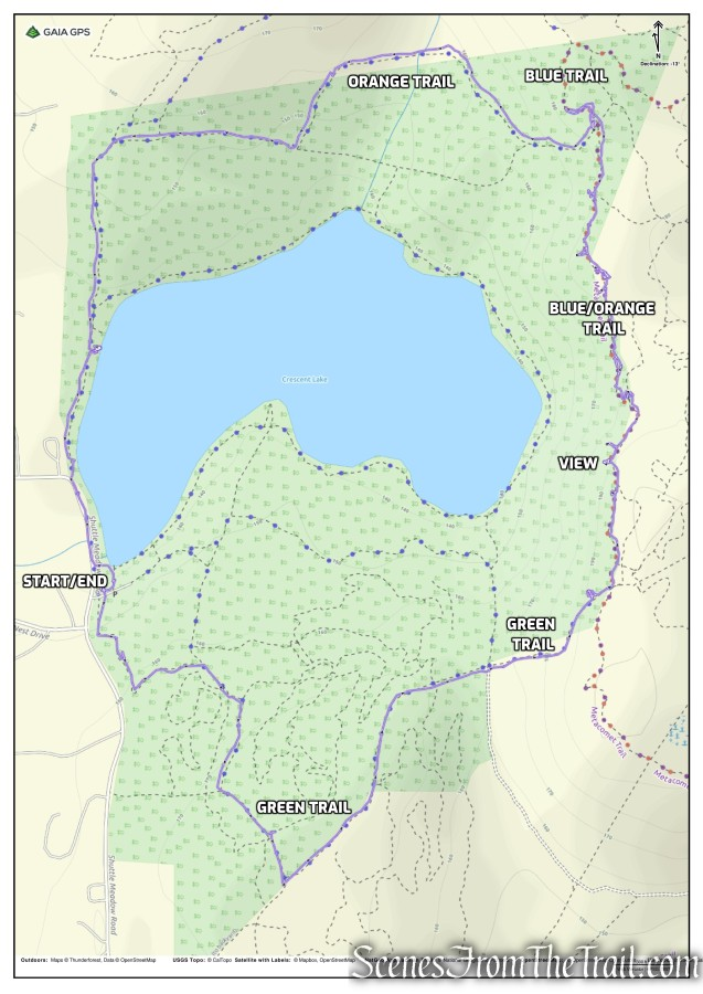 Crescent Lake Recreation Area Loop
