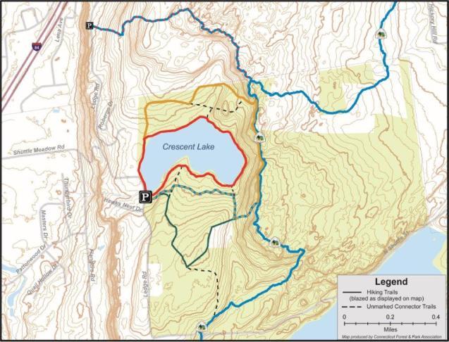 Crescent Lake Trails Map
