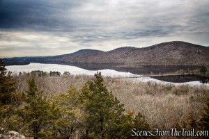 Wanaque Reservoir and the Ramapo Mountains as viewed from Governor Mountain
