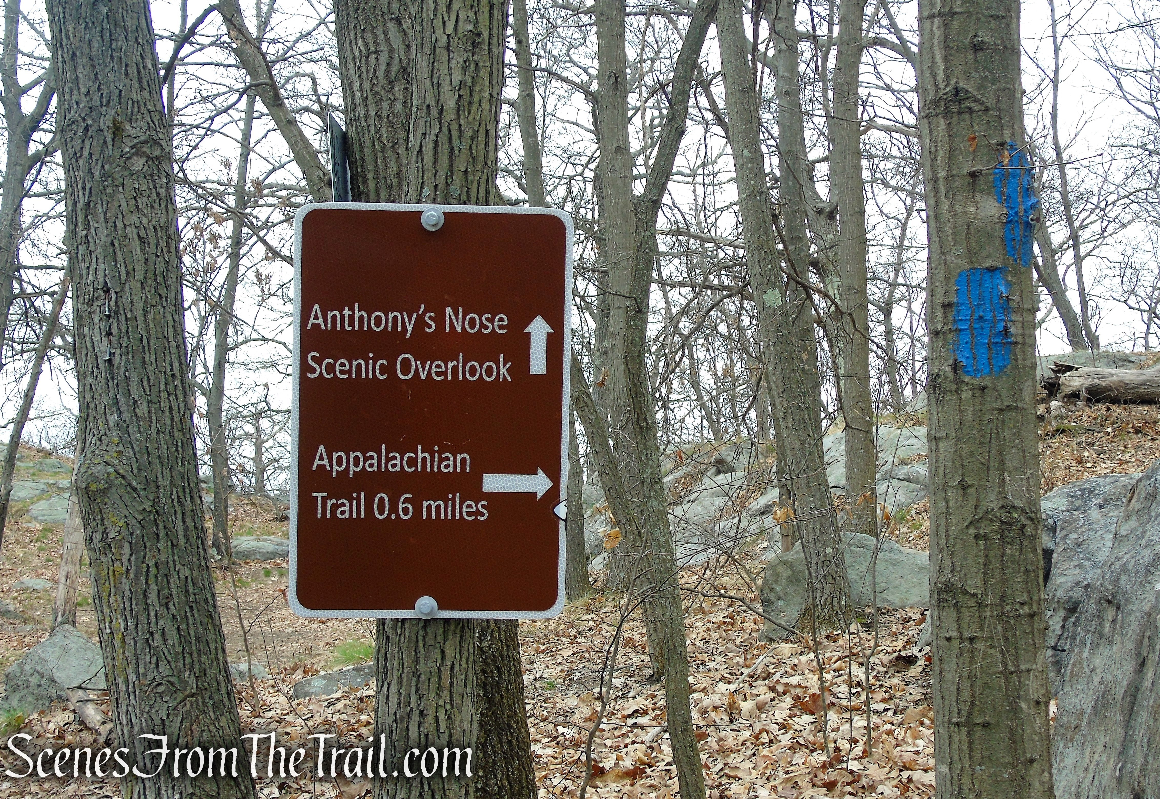 turn right to Anthony's Nose Overlook