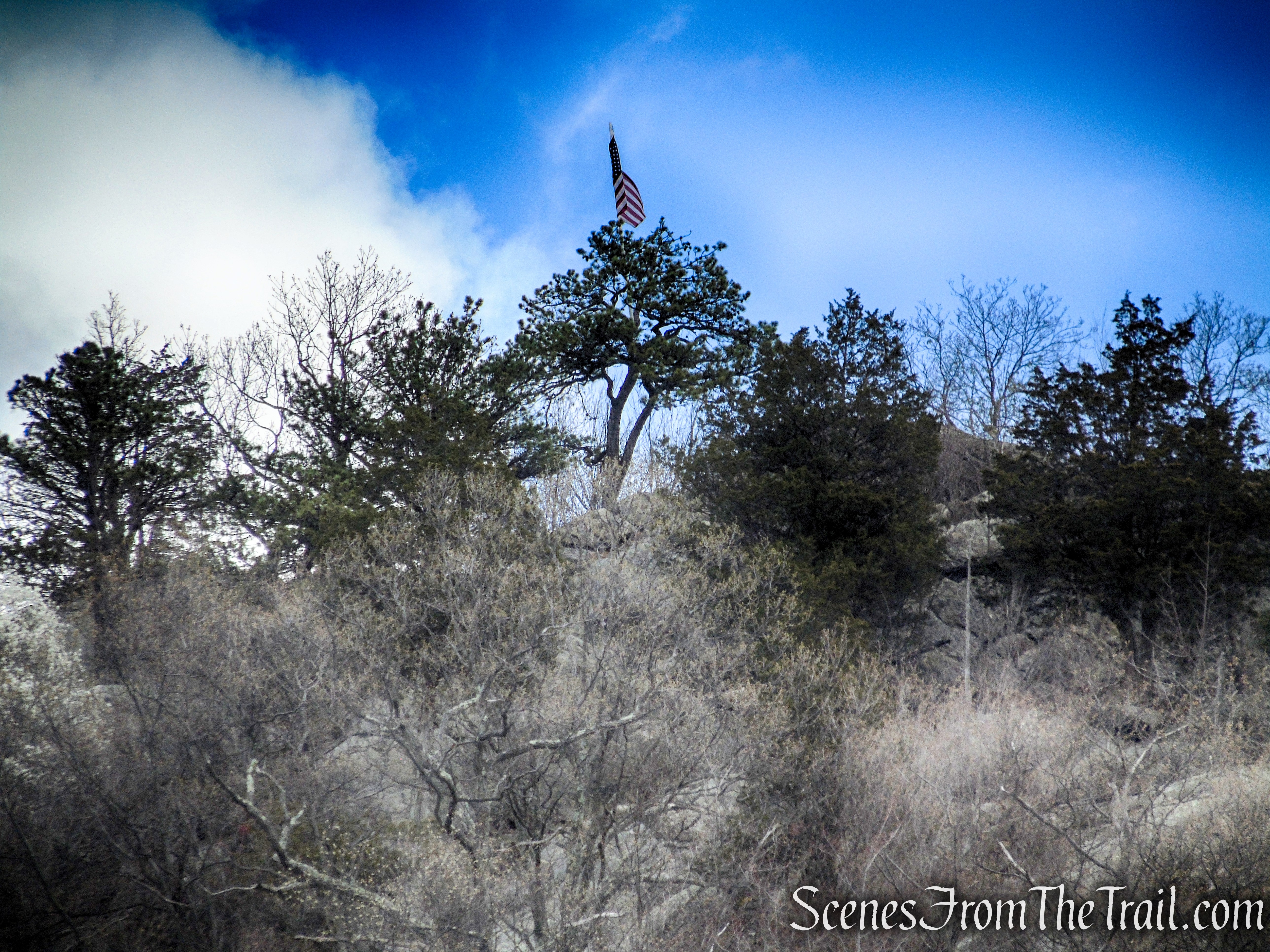 American Flag - Windbeam Mountain summit