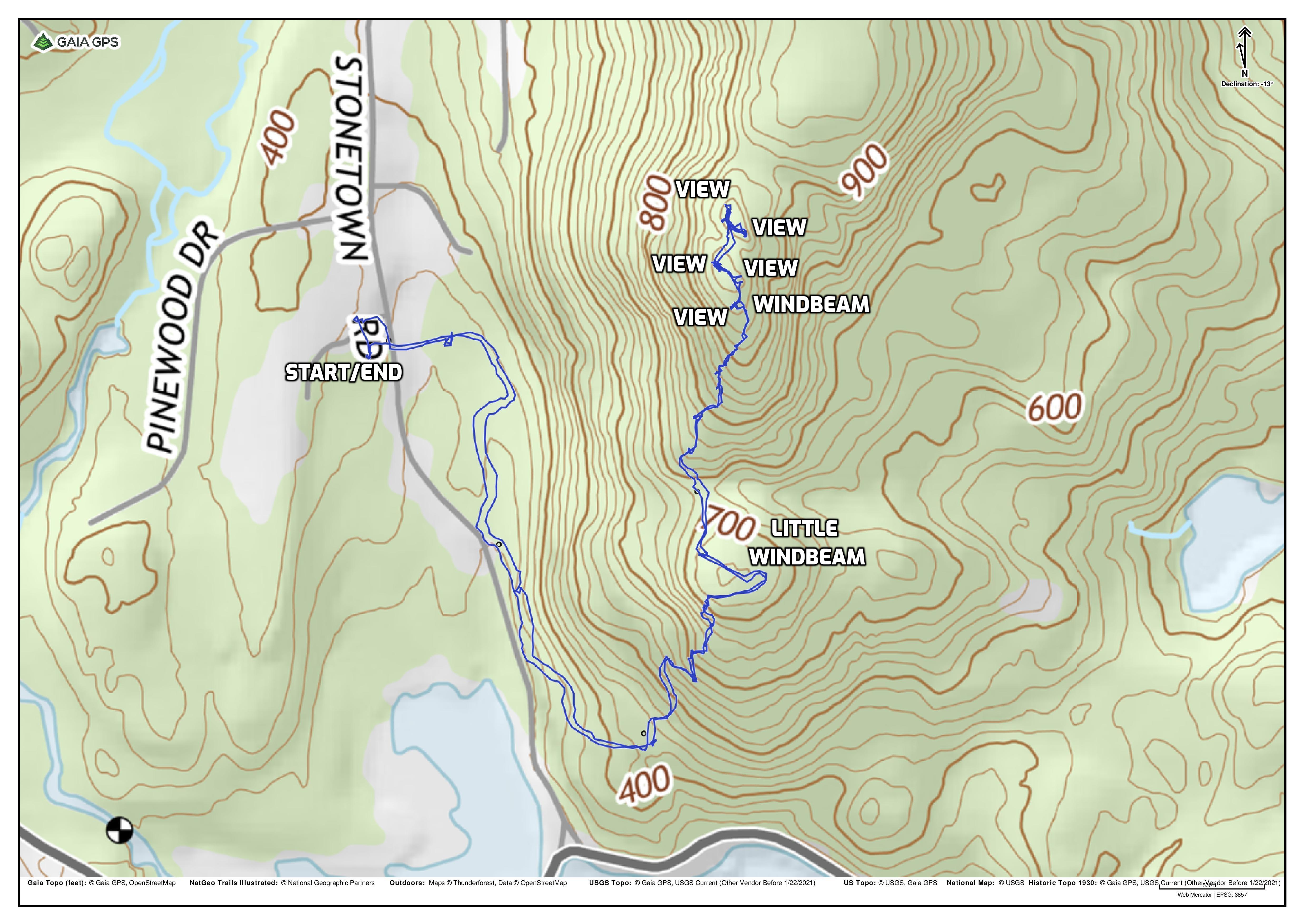 Windbeam Mountain from Stonetown Recreation Complex