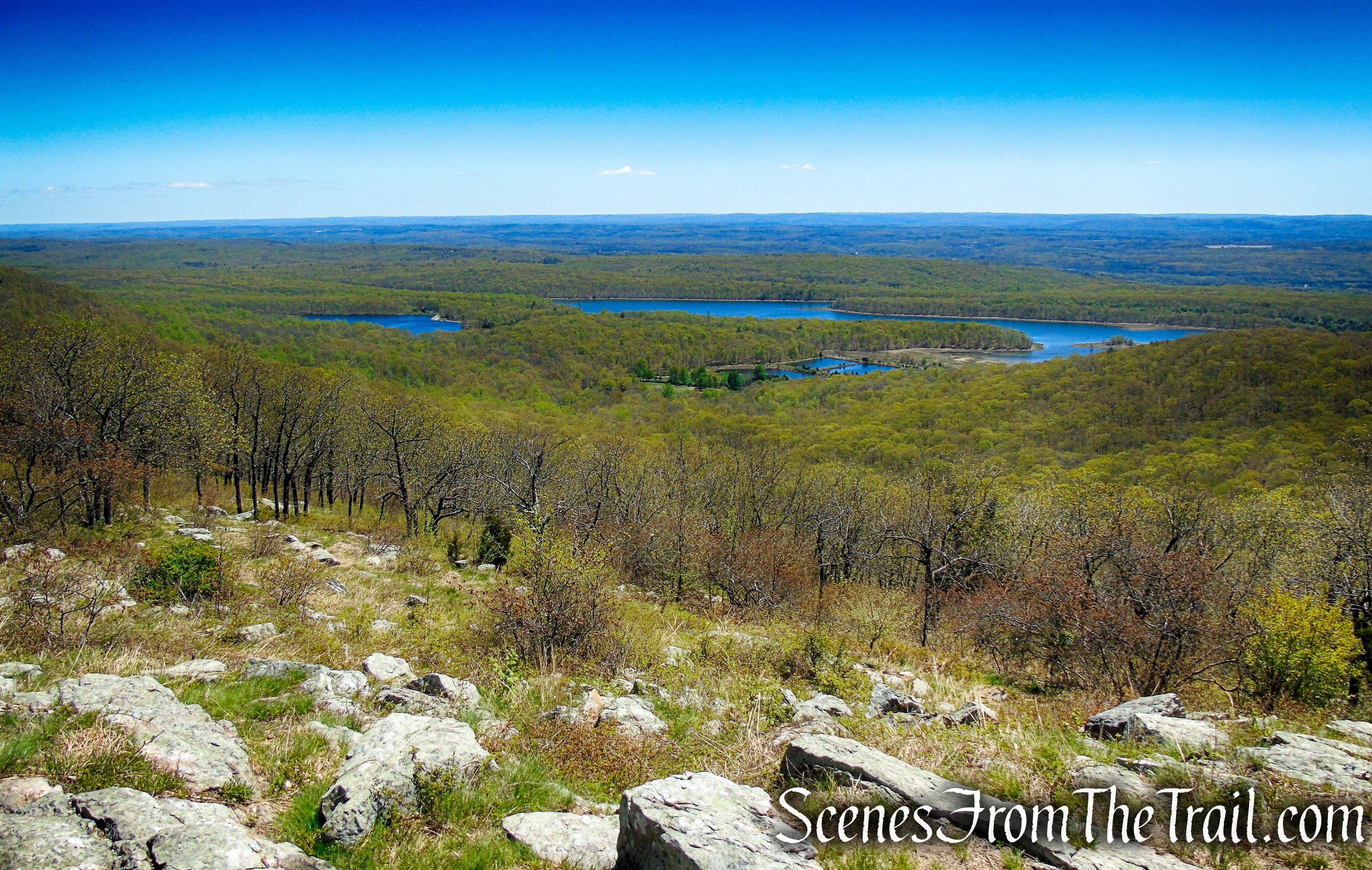 Lower Yards Creek Reservoir from Raccoon Ridge