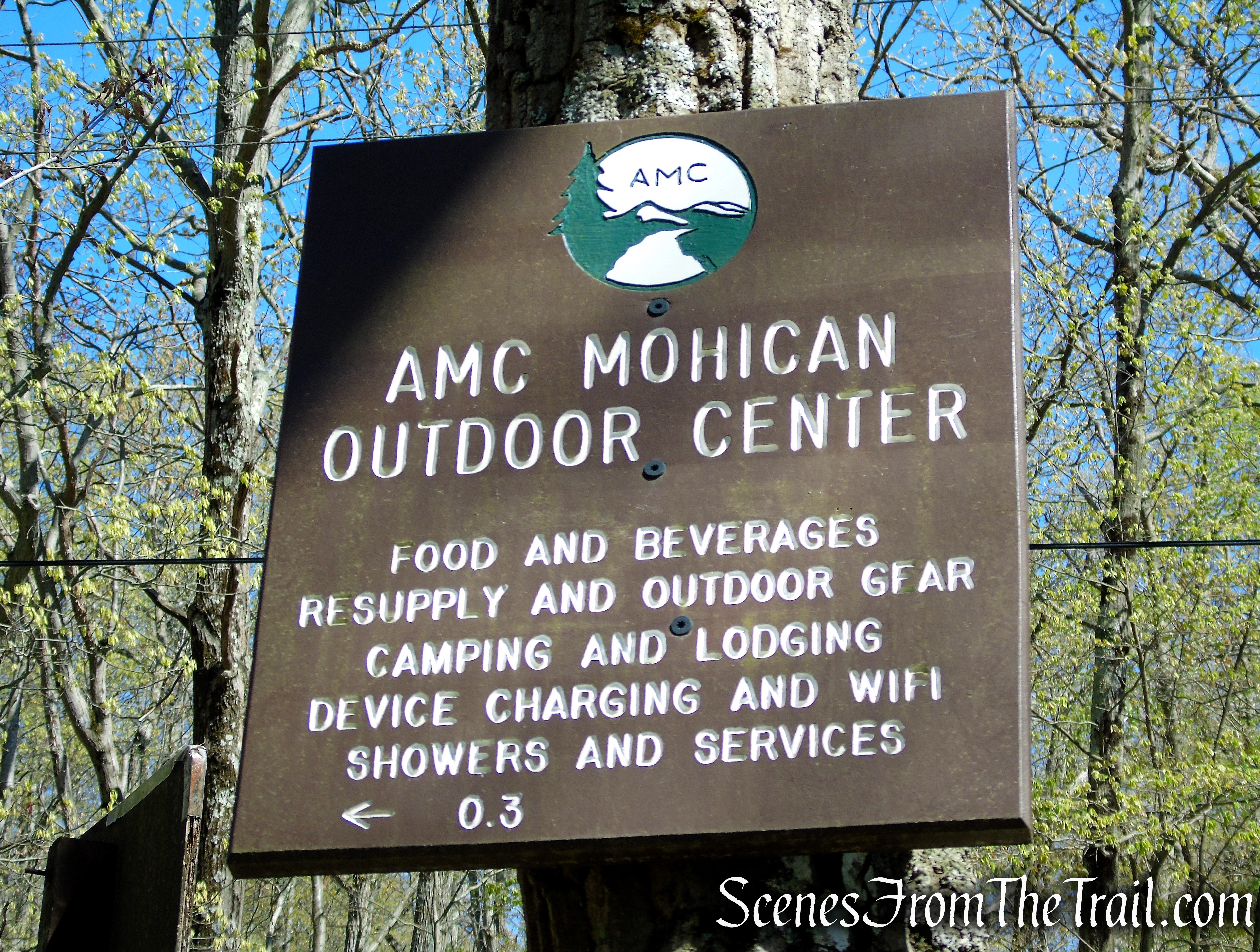 turn left on Camp Mohican Road