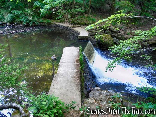 Dam waterfall - Kay's Cottage Ruins