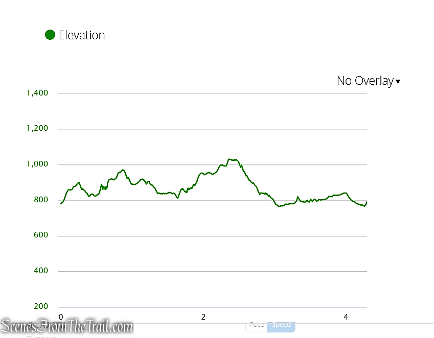 elevation profile - Indian Hill Loop Trail