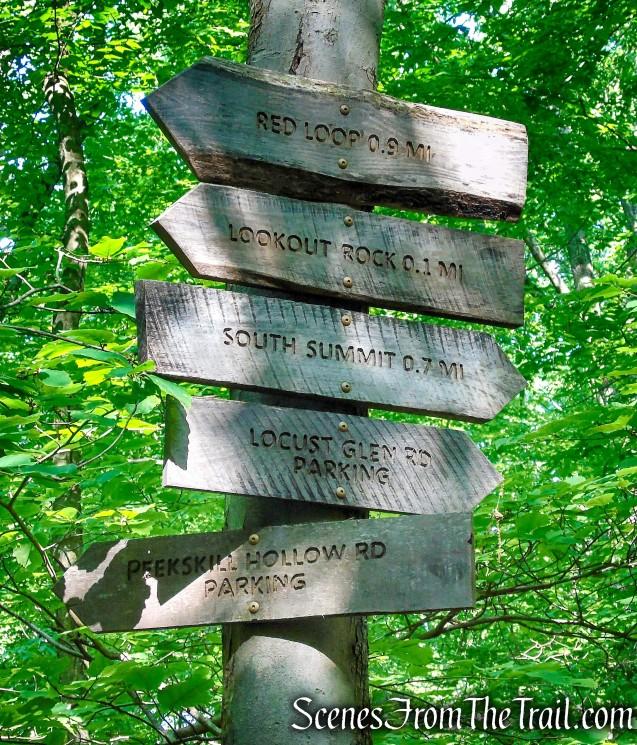 Trail signs - Granite Mountain Preserve