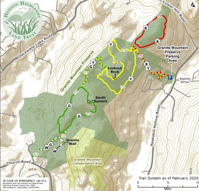 Granite Mountain Preserve Trail Map 2020