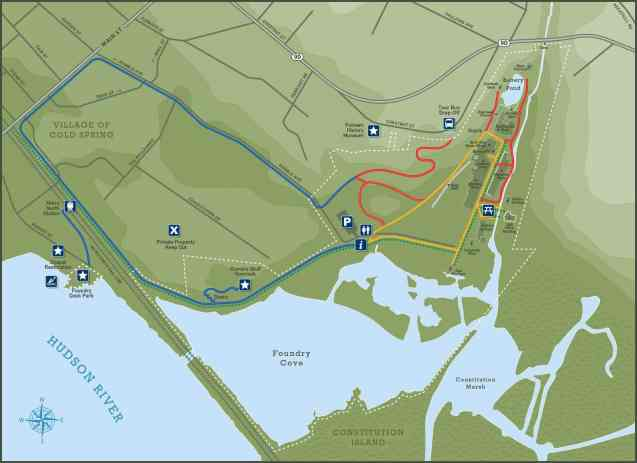West Point Foundry Preserve Trail Map