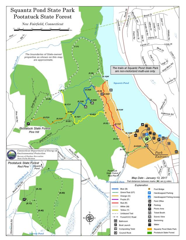 Pootatuck State Forest Map