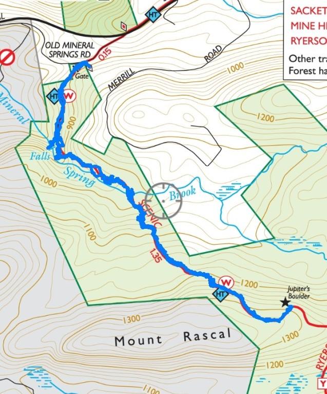 Mineral Springs Falls and Jupiter's Boulder – Black Rock Forest