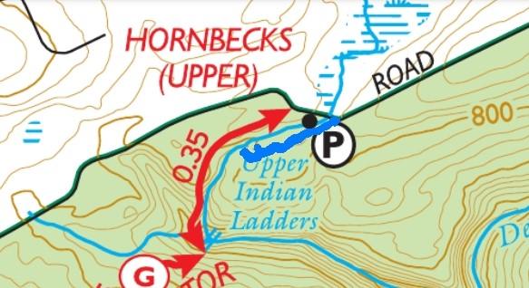 Unmarked trail – Upper Hornbecks Creek